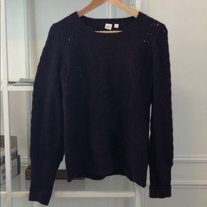 Purple Pointelle Sweater